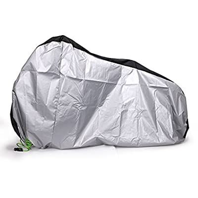 Hipiwe Bike Cover 210D Oxford Fabric Heavy Duty Bicycle Covers With Lockhole, Waterproof Outdoor Bicycle Protection for Mountain Bike, Road Bike