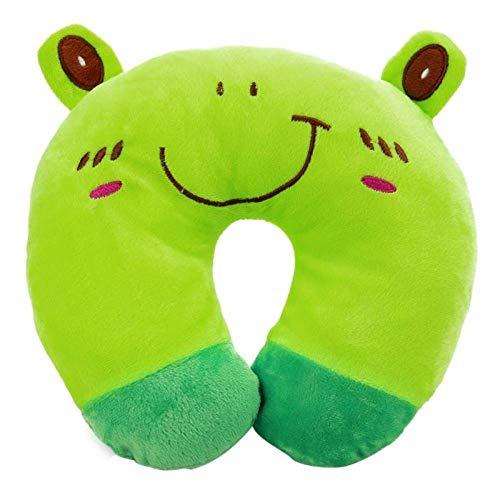 XiXiBoom Reposacabezas En Forma de U Almohada de Viaje Cuello Almohada Almohada de Apoyo Pad-Oso Pardo Almohada Cuello Coche (Color : Green)