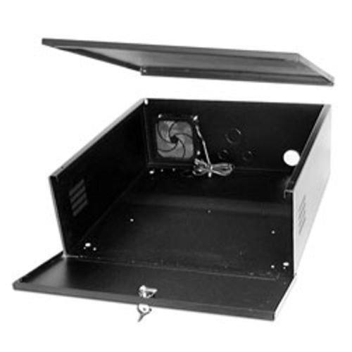 DVR Lockbox CCTV 21 X 24 X 8 - 16 Gauge Steel Security Large Digital Video Recorder Lock box with FAN NVR Network Locking Box