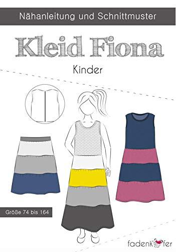 Schnittmuster Fadenkäfer Kleid Fiona Kinder Gr. 74-164 Papierschnittmuster