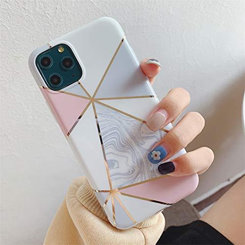 Jacyren - Carcasa para iPhone XS, funda de silicona ultrafina, con purpurina, mármol, antigolpes, antiarañazos, carcasa trasera para iPhone X/XS