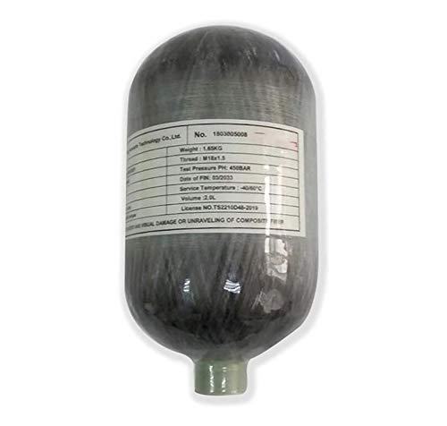 HAI Moda Compuesto de Fibra de Carbono 4500psi 2L Cilindro PCP Paintball del Tanque de Caza táctico SoftGun Objetivo de Disparo utilizados