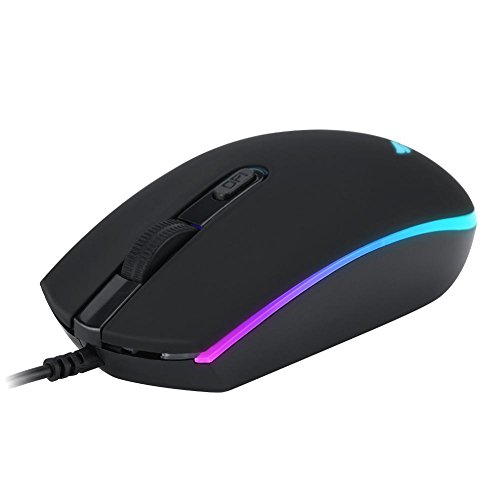 Aramox Ratón del Juego, ratón de Juego ZERODATE S900 1600 dpi programable USB óptico con luz de Fondo LED RGB para PC/Ordenador portátil/de Escritorio
