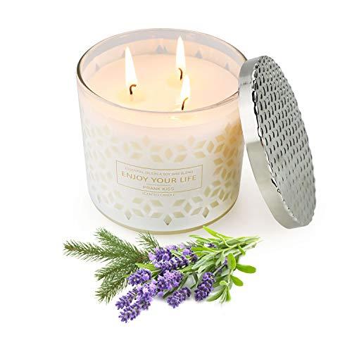 Yinuo Candle Duftkerzen, Weihnachtsgeschenkkerzen, Lavendelduftkerzen Sojawachs 120 bis 150 Brennstunden, Aromatherapiekerzen für Frauen.