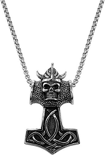 Necklace For Men Women New Stainless Steel Gothic Evil Horn Devil Demon Skull Pendant Necklace Eagle Hip Hop Necklace Punk Halloween Jewelry For Men 22 Fashion Pendant Necklace Girls Boys Gift