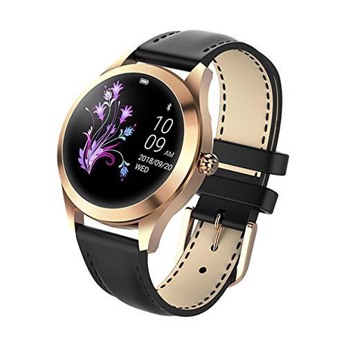 Ladies Smart Watch IP68 Monitor de Ritmo cardíaco Mensaje Mensaje de Llamada Recordatorio Podómetro Calorie Smart Watch Reloj de Las Damas,B