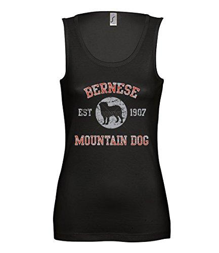 Artdiktat Damen Tank Top - Berner Sennenhund - Old School Est. 1907 Größe XL, schwarz