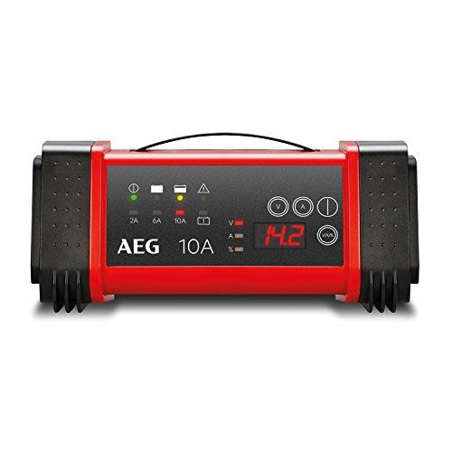 AEG Automotive 97024 Mikroprozessor Batterie Ladegerät LT 10 Ampere für 12 / 24 V, 9-stufig, Power-Supply, automatischer Temperaturausgleich