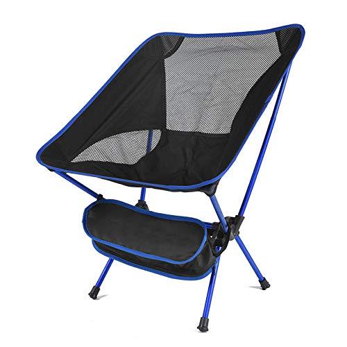 jjh hopfällbar stol camping fiske grillstol bärbar ultralätt hopfällbar stol utomhus resor camping strand vandring picknick stol verktyg stol fällstolar för utomhus (färg: blå)