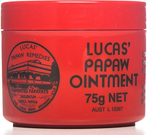 Lucas Papaw Ointment 75 g, Topical applicazione per bollire, ustioni, Chafings, ferite aperte, punture di insetti e Nappy Rash Made in Australia