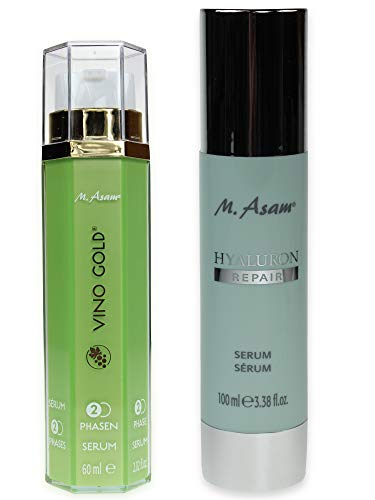 M. Asam® Vino Gold 2-Phasen-Serum 60ml + Hyaluron Repair Serum, 100ml