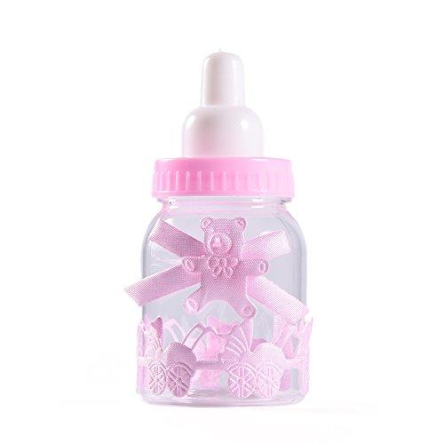 LianLe 12 pz Bomboniere Battesimo Biberon Portaconfetti Vasetto Caramella Bottiglia Baby Shower favori