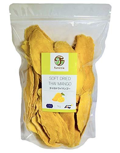 タイのドライマンゴー 『大袋 1kg』【甘過ぎないソフトな仕上がり】【大きなスライスカット】タイ産 Soft Dried Thai Mango [1kg]