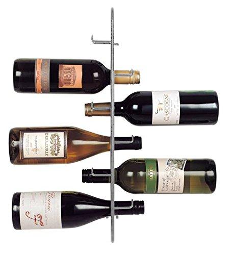 JWP PTC Ltd Navarra 6 Botellas de Vino Rack, Plata