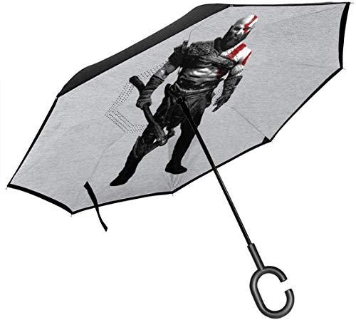 God Of War Kratos Axe Doppelschicht Inverted Regenschirm Fur Umgeklappte Hande In C Form Leicht Winddicht Ndash