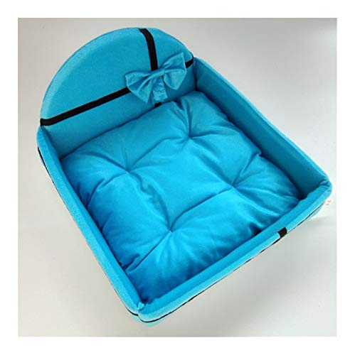 Yayan Pet Bed Dog Puppy Cat Detachable Nest Soft Warm for Sleeping Cotton Mats Sofa For small large Dog Dog Basket pet bed (Color : Blue, Size : L)