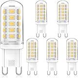MLlichten 4W Bombillas LED G9 4000K Blanco Natural, Equivalente 30W...