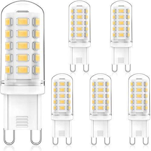 MLlichten 4W G9 LED Ampoule 4000K Blanc Naturel, Équivalent 30W 40W Halogène, Non-Dimmable AC220-240V Ampoules LED G9, Pas de Scintillement G9 Ampoule LED Lampe, Angle de faisceau de 360°, Lot de 5