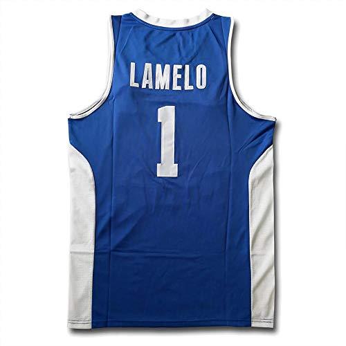 LaMelo Ball #1 LiAngelo Ball #3 Men's Movie Basketball Jersey (Blue 1, S)