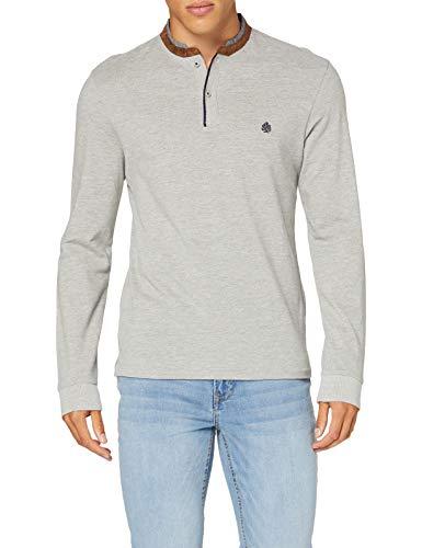 Springfield 3Ds Mao M/L Suede Melange-C/43 Camiseta, Gris (Dark_Grey 43), XS (Tamaño del Fabricante: XS) para Hombre