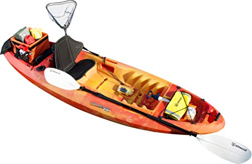 attwood 11768-2 Asymmetrical 2-Piece Heavy-Duty Kayak Paddle with Comfort Grips 7-Feet 4 Thick aluminum and rugged plastic construction for durable performance Two-piece breakdown design is ideal for both storage and transport Drip rings for added comfort; they prevent water from sliding onto your grip