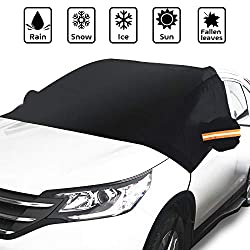 Extra Large Frost Ice Cover Sunshade Snow Covers with Magnet Edges Fits Most Car Van or Automobile SUV 85 x 61 Truck Magnetic Windshield Snow Cover