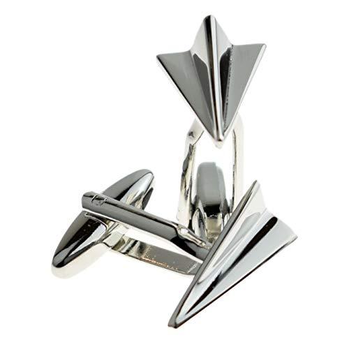 Ashton and Finch Manschettenknöpfe, gefaltet, Flugzeug-Design, perfektes Geschenk für Geburtstage, Hochzeiten und besondere Anlässe, personalisierbar, für Männer