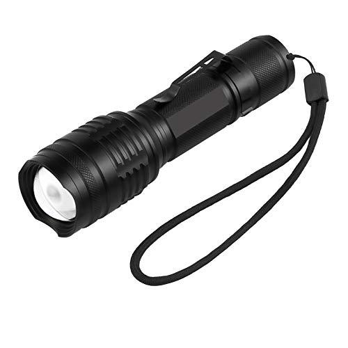 PROZOR Mini Taschenlampe CREE XM-L T6 LED Dimmbar 18650 Wiederaufladbare Hohe Helligkeit 7 Modi Taschenlampe Clip Taschenlampe -Schwarz