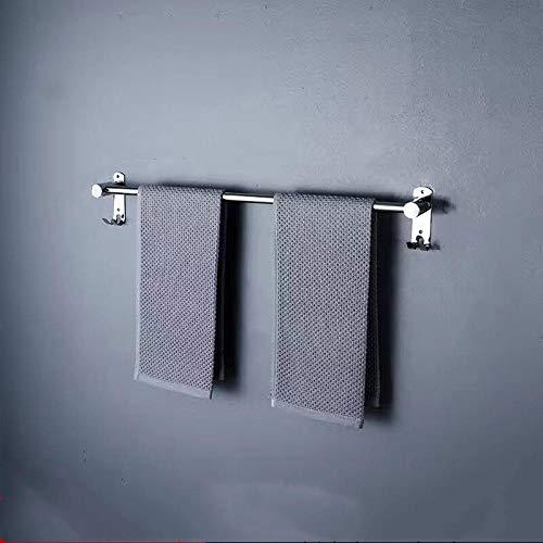 Gancho de baño colgante de almacenamiento de pared engrosado de acero inoxidable 304-Los 40cm