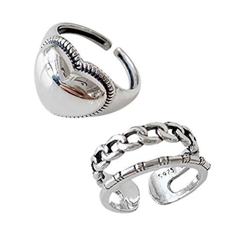 BSTQC Open Ring Fashion Retro Couple Ring Womens Ring Jewellery Love Twis for Birthday Valentine's Day Anniversary Womens Ring Jewellery