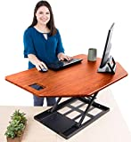 Stand Steady X-Elite Pro Corner Standing Desk   40 Inch Corner Sit to Stand Desk Converter Ideal for Cubicles and L Shaped Desks! Easy Height-Adjustable and Fully Assembled! (Cherry)
