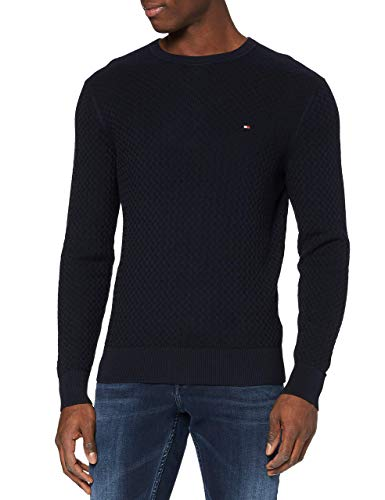 Tommy Hilfiger Weave Structured Sweater Maglione, Desert Sky, L Uomo