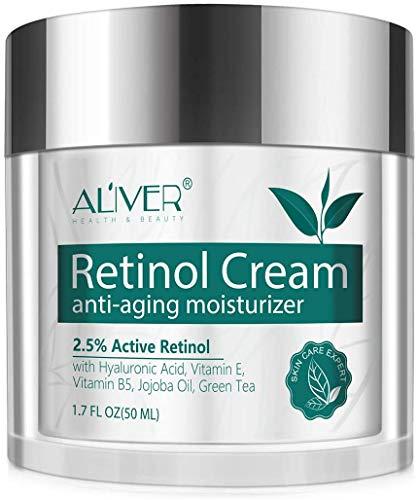 Retinol Feuchtigkeitscreme für Gesicht, Hals und Dekolleté mit 2,5{e89cdf2b772ba5041ff01c11a82ea364d59cfe6836a1525c7ad943083c47b65c} Retinol und Hyaluronsäure - Beste Nacht- und Tages-Gesichtscreme von Simplified Skin 1,7 oz