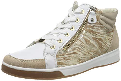 ara Damen ROM Hohe Sneaker, Braun (Camel, Weiss/Platin 13), 38.5 EU(5.5 UK)