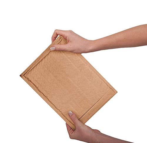 Natural Kraft Bubble mailers 25 Pack 6x9 Padded Envelopes 6 x 9 Brown Cushion mailers. Kraft Paper mailing envelopes with Peel-N-Seel. Bubble Shipping Bags. Wholesale Price. Photo #7