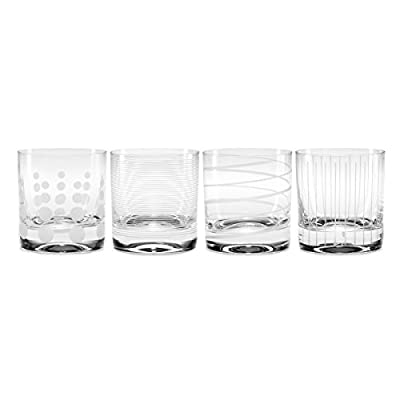 Mikasa Cheers Double Old Fashioned Glass, 12.75-Ounce, Set of 4
