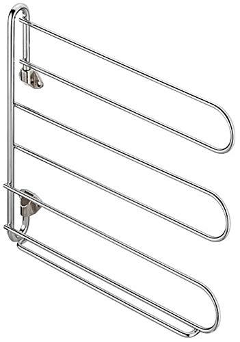 Gedotec Krawattenhalter Schrank-Tür Gürtelhalter Metall - Hosenhalter Kleider-Schrank Kleiderlüfter schwenkbar für den Möbel | Breite 320 mm | Stahl verchromt | 1 Stück - Kleiderlüfter zum Schrauben