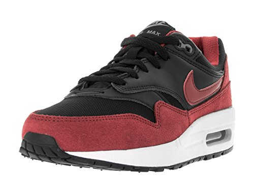 Nike Youths Air Max 1 Black Red Synthetic Trainers 38.5 EU