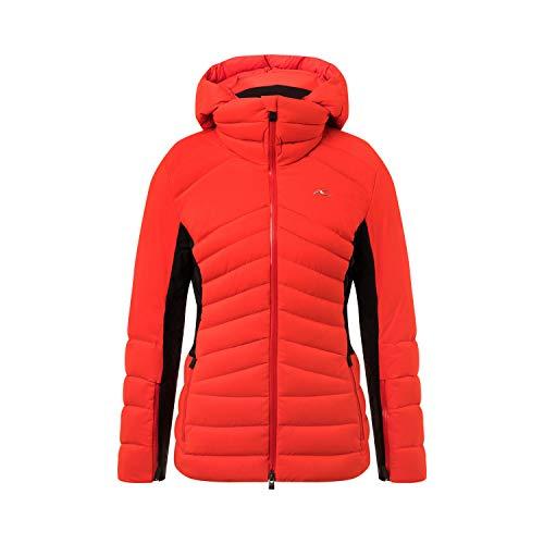 KJUS Women Duana Jacket Rot-Schwarz, Damen Dermizax™ Isolationsjacke, Größe 38 - Farbe Fiery Red - Black
