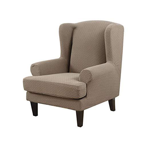 LYY Wingback Chair Schonbezug, Wing Chair CoverSlipcovers High Stretch Spandex Fabric Maschinenwaschbarer Möbelbezug für Sessel