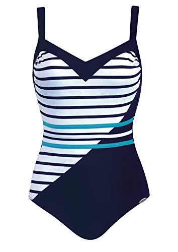 Sunflair Badeanzug 62.6 Shapewear, Nachtblau/weiß, Größe 44B