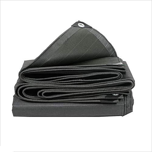 LIANGJUN Bâche De Protection PVC Tissu De Couverture Double Face Étanche Fournitures De Jardinage en Tissu, 560g / M², Plusieurs Tailles (Couleur : Noir, Taille : 1.4X1.8m)