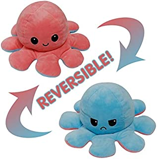 LIMOS Cute Double-sided Octopus Flip Plushie, Reversible OctopusPlush Stuffed Animals Doll Creative Toy Gifts for Kids, G...