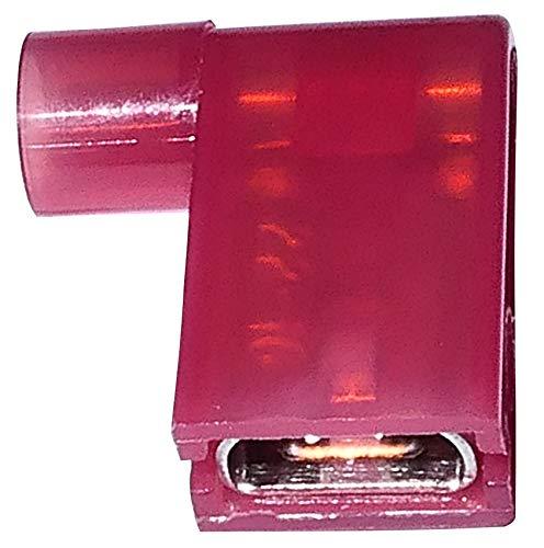 AERZETIX: Juego de 100 aisló terminales cable eléctrico 6.3mm 90° inclinación C1299