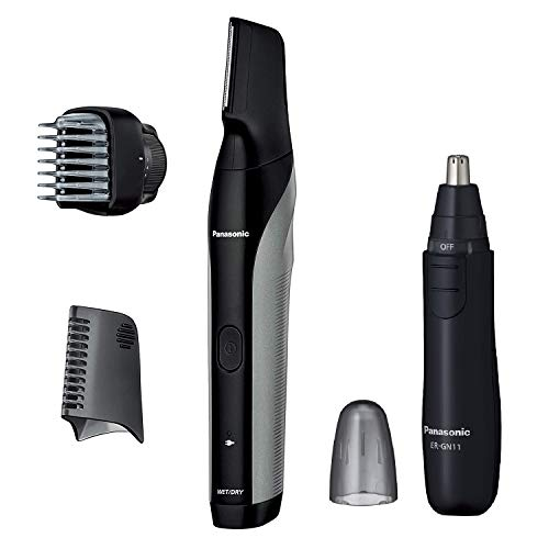 パナソニック ボディトリマー お風呂剃り可 海外対応 男性用 シルバー調 ER-GK81-S + エチケットカッター セット