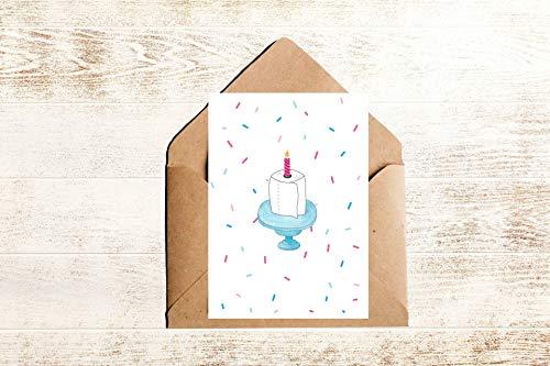 Geburtstagskarte Corona mit Toilettenpapier Torte