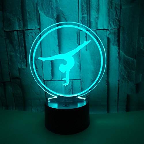 Beliebte Ballett 3d Tischlampe 7 Farbe Touch Stereo Tischlampe Wohnzimmer Weihnachtsgeschenk Kinderspielzeug Geschenk Nachtlicht