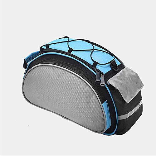 MU2827924 Fahrradtasche Fahrrad Satteltasche Gepäcktasche Gepäckträger Tasche Rucksack Seitentasche 13L Schultertaschen,Blau