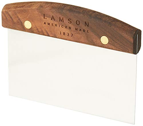 Lamson Dough Scraper 3quot x 6quot Stainless Steel with Riveted Walnut Handle