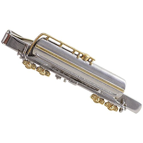 LINDENMANN Krawattenklammer/Krawattennadel, Motiv Kesselwagen, bicolor, im Geschenketui, 990004